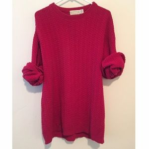 Red Oversized Vintage Sweater NWOT