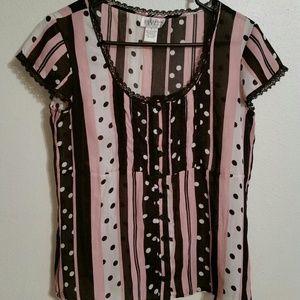 Allison Taylor lace top shirt