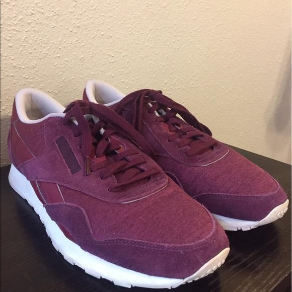 Mens Reebok Maroonburgundy Tennis Shoes