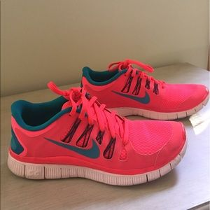 Pink Nike Running shoes! Women's size 7.