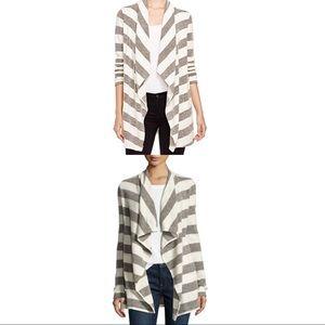 Three Dots Sweaters - NEW THREE DOTS striped cardigan Size medium