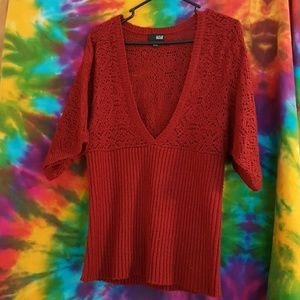 a.n.a Sweaters - a.n.a. deep V neck sweater