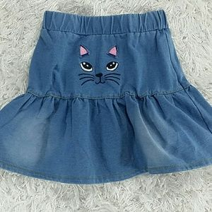 Other - Kitty Denim Skirt.  Kids
