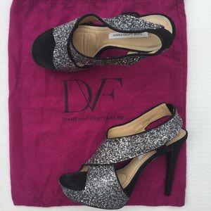 Diane von Furstenberg Shoes - Diane von Furstenberg Zia Glitter Stiletto