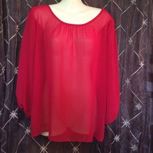 A. Byer Tops - 🎉Red Blouse with Bow