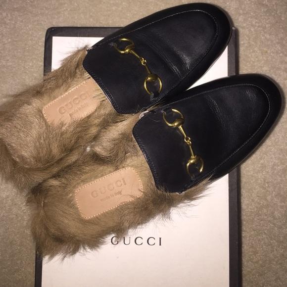 1c6844b40 Gucci Shoes | Fur Princeton Slippers | Poshmark