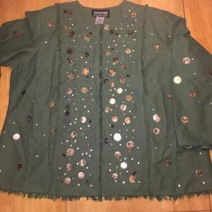 Vintage Jackets & Blazers - Vintage Indigo Moon Jacket