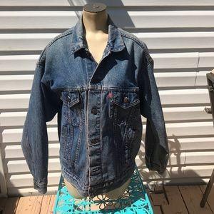 Levi's vintage jean jacket 90s trashed distressed