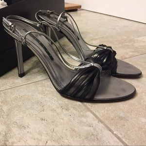 Laundry by Shelli Segal Shoes - Laundry by Shelli Segal Strappy Metallic Heels