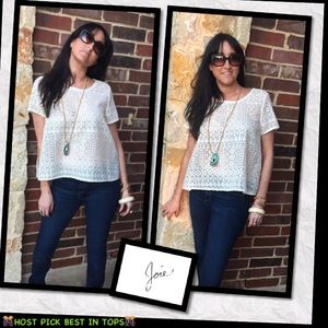 Joie Tops - 🎊HP🎊 ❣️PRICE DROP😎🏝🌞👚Joie Lace White Top