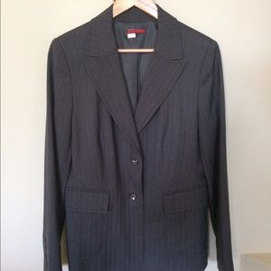 tapemeasure Jackets & Blazers - Gray Blazer with silver threading