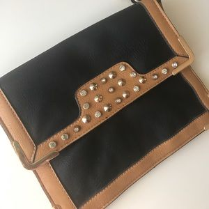 Handbags - Vegan leather studded jeweled purse