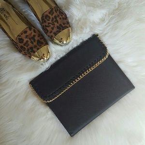 henri bendel Accessories - Henri Bendel Black Gold Chain iPad Case