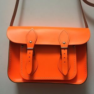 The Cambridge Satchel Company Handbags - Cambridge Satchel Neon Orange Small Crossbody Bag