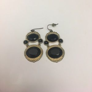 Stunning black and gold earrings