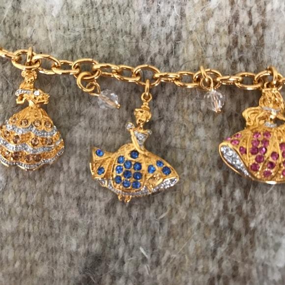 Swarovski Crystal Disney Princess Charm Bracelet
