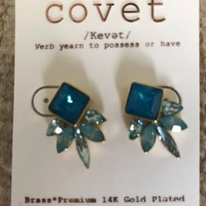 Neiman Marcus Jewelry - NWT Covet Blue Statement Earrings