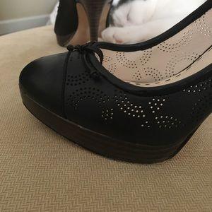 "Coach black heels 4"""