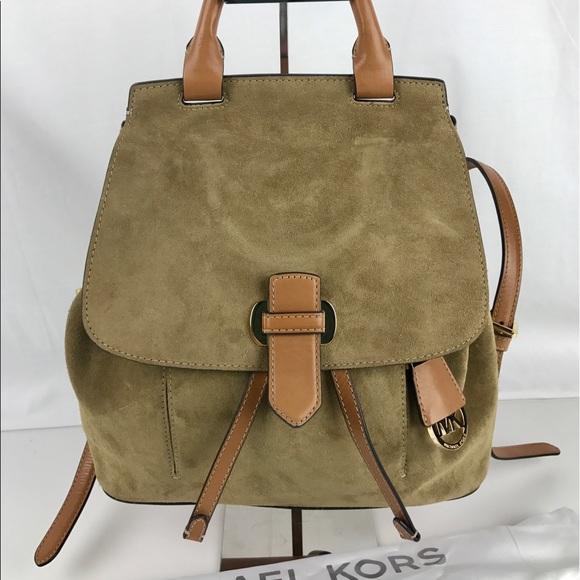 506338699cb9 Desert Romey Medium Suede Backpack Michael Kors Desert Suede Romy Medium  Backpack ...