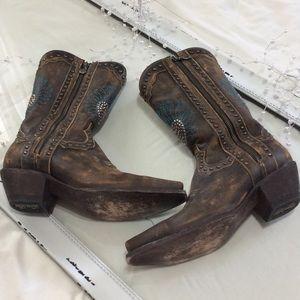 Dan Post Shoes - Dan Post Heartbreaker Leather Cowgirl Boots