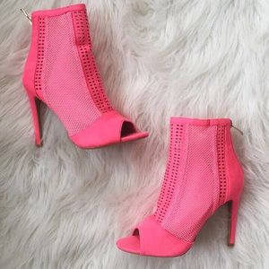 Cape Robbin Shoes - Hot pink booties. New