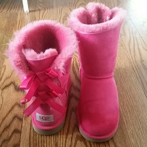 Authentic Hot Pink Bailey Bow Uggs