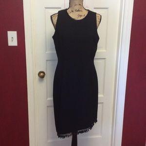 Donna Morgan Dresses & Skirts - Pretty black Sleeveless dress beaded Fringe