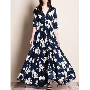 Bare Anthology Dresses & Skirts - xx Navy Floral Print Maxi Dress