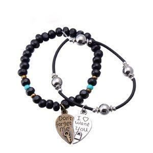 Puzzle Charm Bracelet Lovers Heart Design