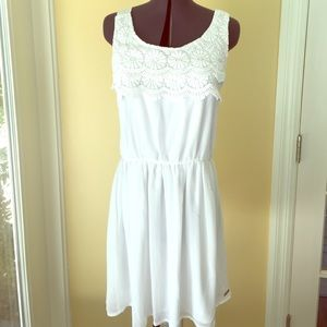 Mayoral Other - Teen White summer dress crocheted  16 mayoral