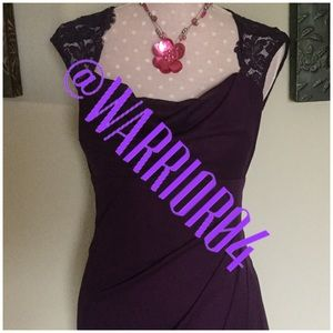 "Xscape Dresses & Skirts - Purple Lace ""My Fav"" Dress Size 10"