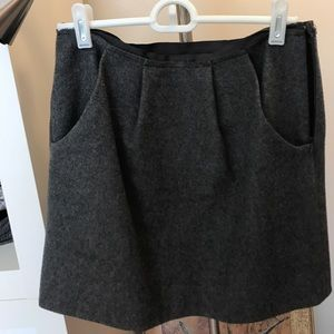 J.Crew wool mini skirt