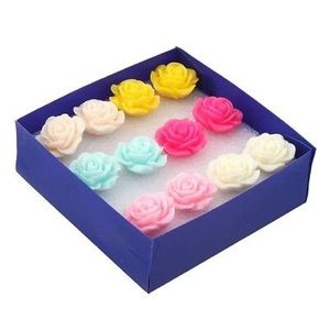 Karen1177 Jewelry - New🌸Multicolor Roses Earrings Bundle 🌹