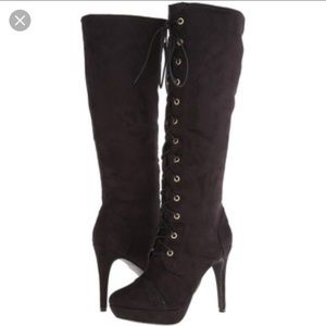 XOXO Shoes - XOXO Normandy Tall Dress Boots. Lace up front.