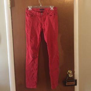 Red banana republic skinny jeans