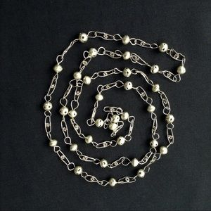 Vintage Jewelry - Vintage Guatemalan Wedding Necklace Silver Beaded