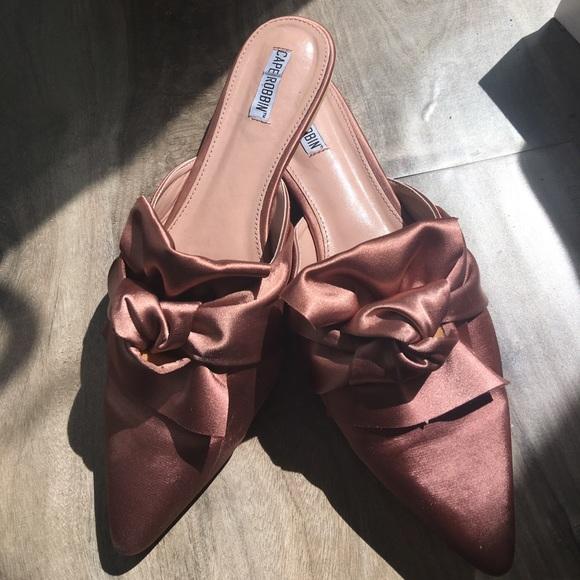 479e1ff5e2d Cape Robbin Shoes - Cape Robbin Twist Tie Mules in Dusty Pink Satin