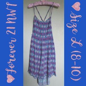 Criss Cross High Low Dress NWT Size L (8-10)