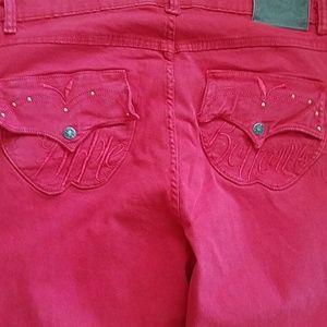 Apple Bottoms Denim - Apple Bottom jeans red ankle skinny