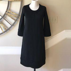 Boden black wool blend sweater dress size 2