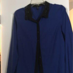 Royal blue Jessica Simpson blouse
