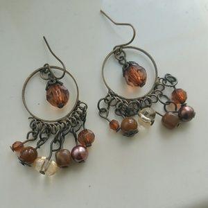 5 for $25 sale Brown bead earrings