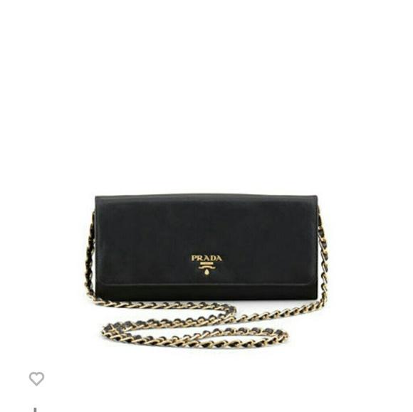 b14a09d78ef8 ... wholesale prada saffiano metal oro chain wallet orig. 875 6f426 3b33a