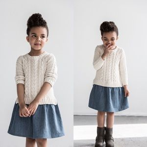 Baby Gap Sweater Dress with Denim Skirt