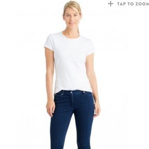 J. McLaughlin Tops - J. McLaughlin White Cotton T-Shirt