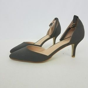 Journee Collection Shoes - Journee Collection Pointed Heel with Ankle Strap