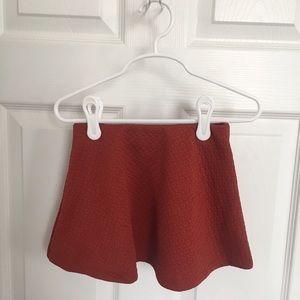 Zara Girls Flared Skirt Poppy Red