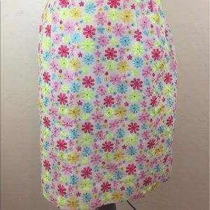 Lilly Pulitzer Floral Embroidered skirt