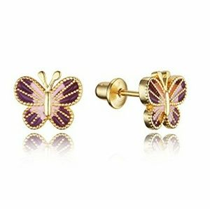 Other - 14k gold plated Butterfly Earrings