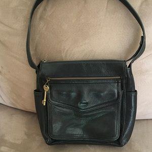 Fossil Handbags - Black leather Fossil shoulder bag